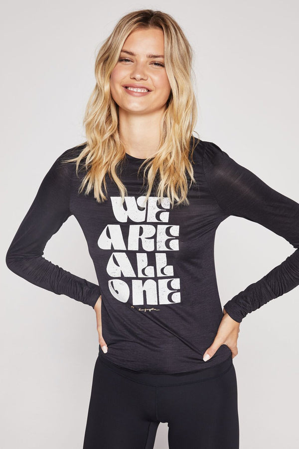 WE ARE ONE ACTIVE LONG SLEEVE TEE BLACK - Spiritual Gangster