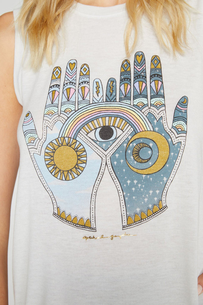 Mystical Hands Muscle Tank Stone