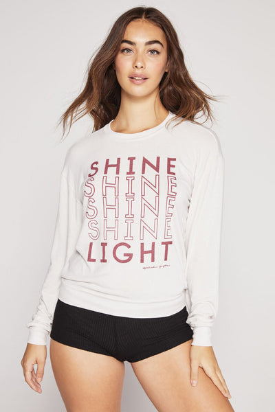 SHINE LIGHT SAVASANA PULLOVER STONE - Spiritual Gangster
