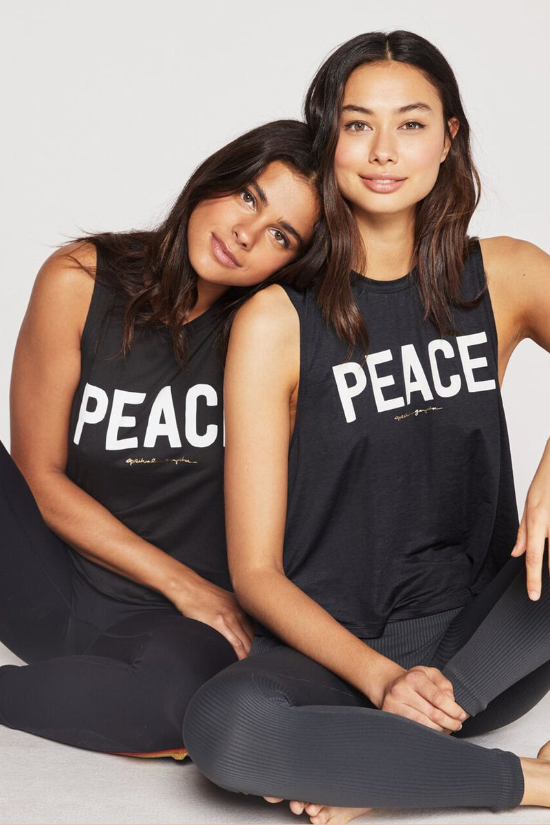 PEACE ACTIVE CROP TANK