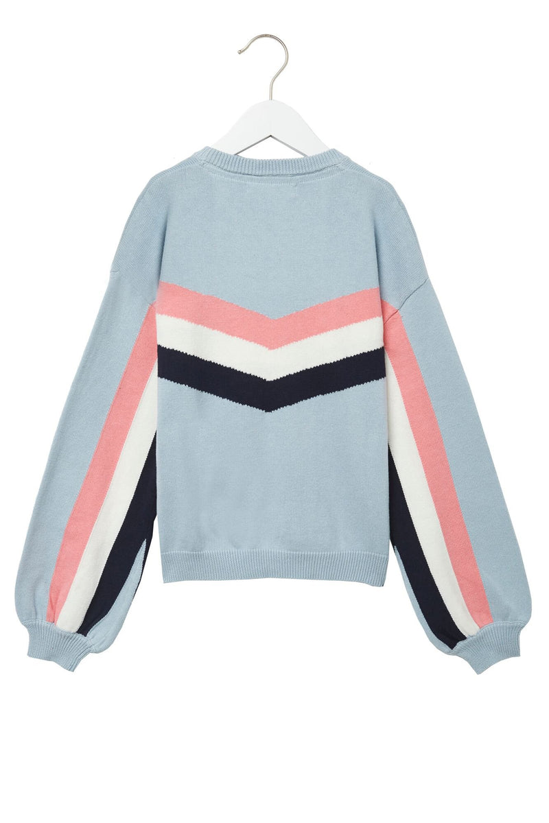 STRIPED BLOCK PARTY KIDS SWEATER AQUARIUS
