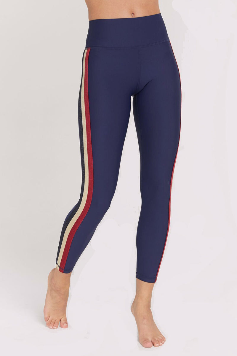 SHIMMER STRIPED 7/8 HIGH WAIST LEGGING