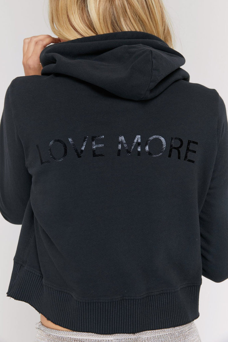 LOVE MORE RAW EDGE HOODIE