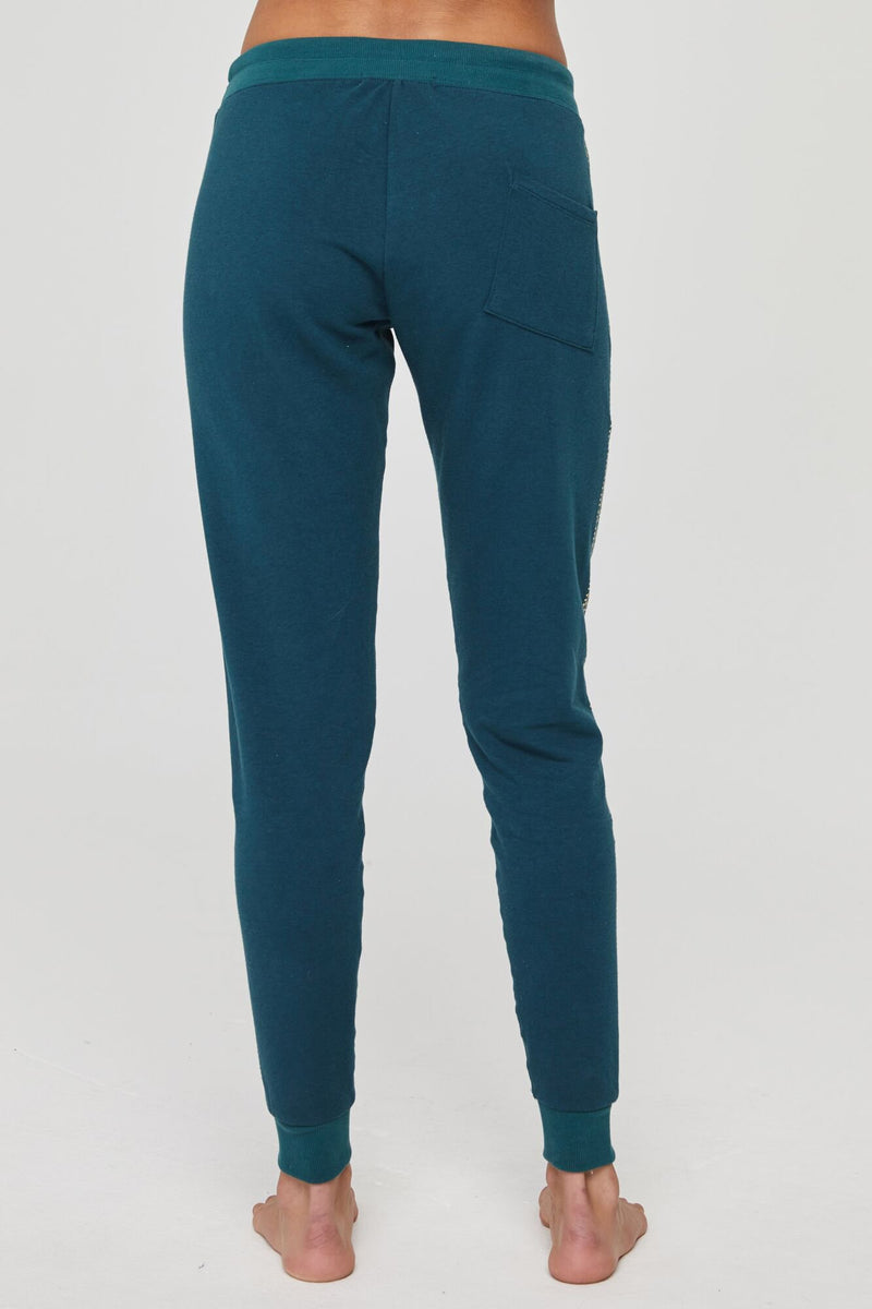 Lotus Stripe Muse Pant Deep Spruce