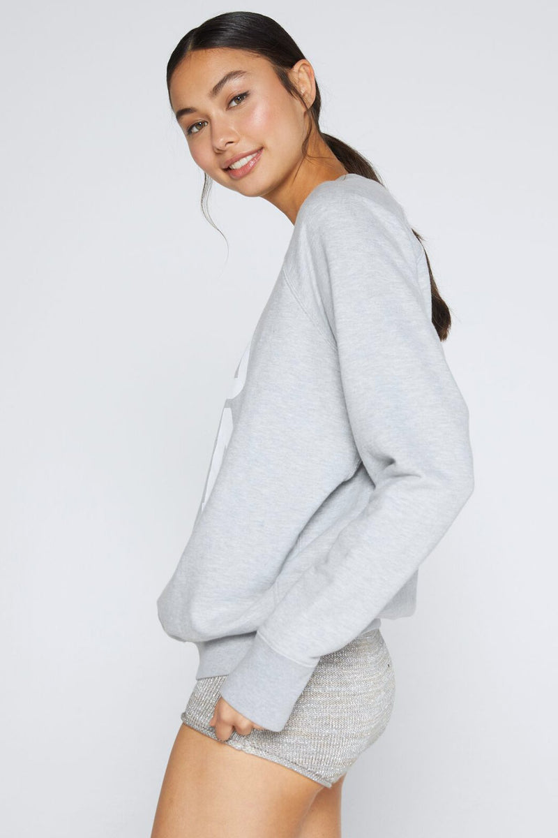 YOGA CLASSIC CREW SWEATSHIRT HEATHER GREY