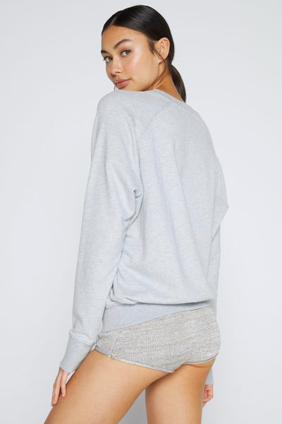 YOGA CLASSIC CREW SWEATSHIRT HEATHER GREY - Spiritual Gangster
