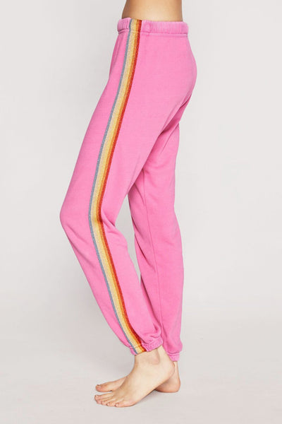 RAINBOW LIGHTWEIGHT SESSIONS SWEATPANT PINK - Spiritual Gangster