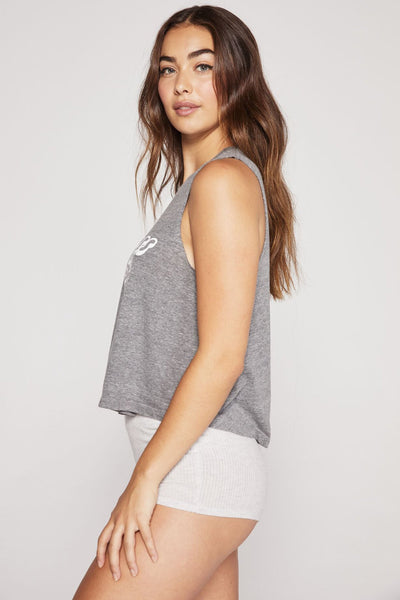 KINDNESS IS MAGIC CROP TANK HEATHER GREY - Spiritual Gangster
