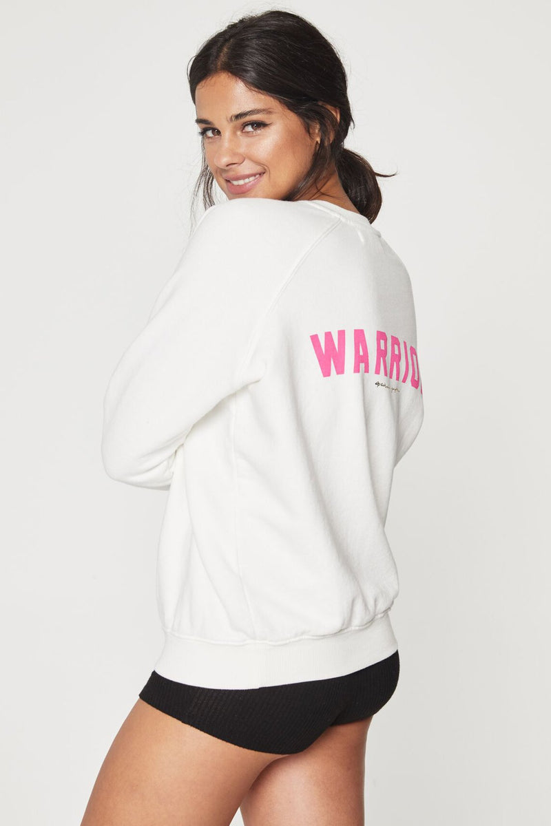 WARRIOR BREAST CANCER AWARENESS SWEATSHIRT