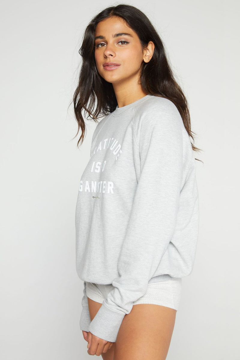 Gratitude Classic Crew Sweatshirt Heather Grey
