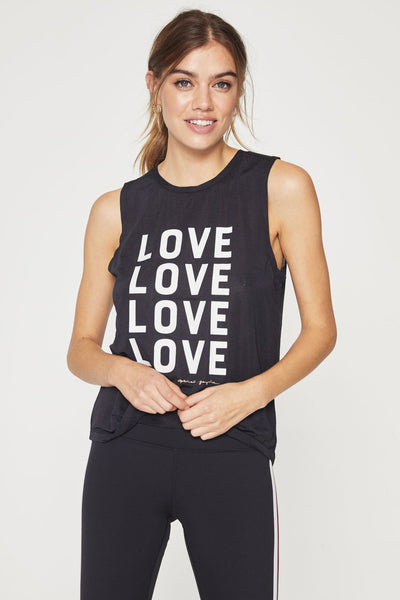 LOVE ACTIVE MUSCLE TANK BLACK - Spiritual Gangster
