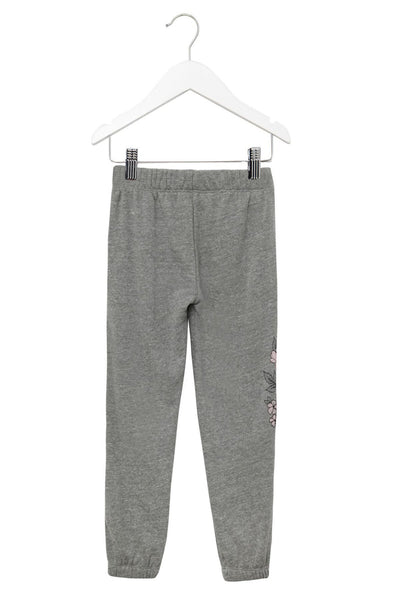 FLORAL FAVE KIDS SWEATPANT HEATHER GREY - Spiritual Gangster