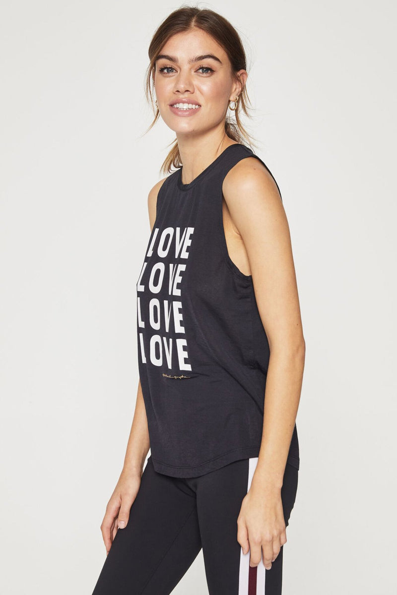 Love Active Muscle Tank Black