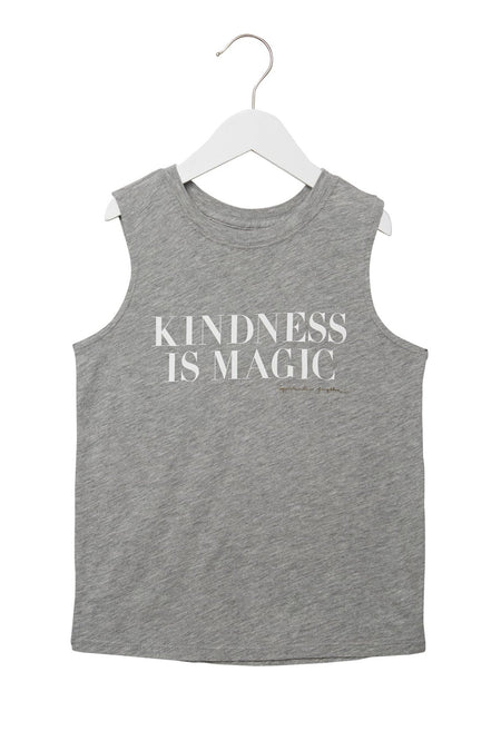 KINDNESS IS MAGIC KIDS TANK PINK LOTUS