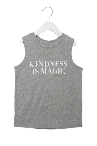 KINDNESS IS MAGIC GIRLS MUSCLE TANK - Spiritual Gangster