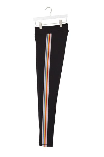 RAINBOW STRIPE GIRLS ACTIVE LEGGING - Spiritual Gangster