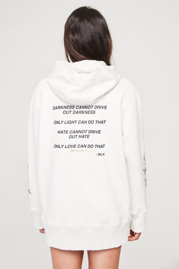 LET LOVE LIGHT THE WAY OVERSIZED HOODIE - Spiritual Gangster