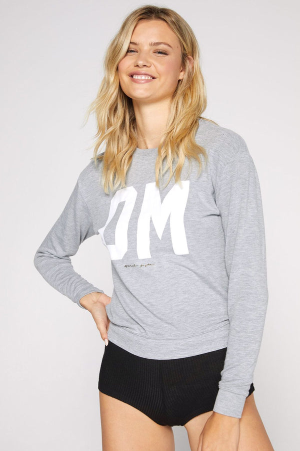 OM SAVASANA PULLOVER HEATHER GREY - Spiritual Gangster