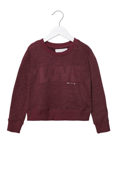 LOVE CREWNECK GIRLS SWEATSHIRT AMOR - Spiritual Gangster