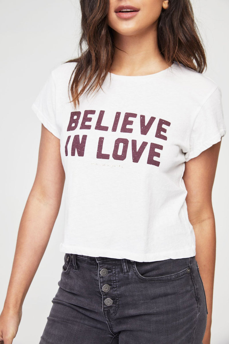 BELIEVE IN LOVE CREW TEE STONE