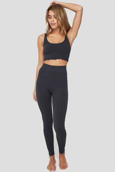 RISHI SEAMLESS HIGH WAIST LEGGING VINTAGE BLACK - Spiritual Gangster
