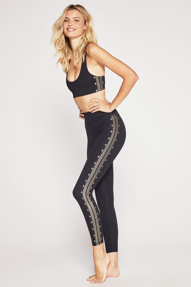 PERFECT HIGH WAIST LEGGING BLACK AND GOLD
