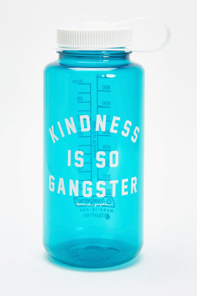 KINDNESS IS SO GANGSTER NALGENE 32OZ WATER BOTTLE JADE - Spiritual Gangster