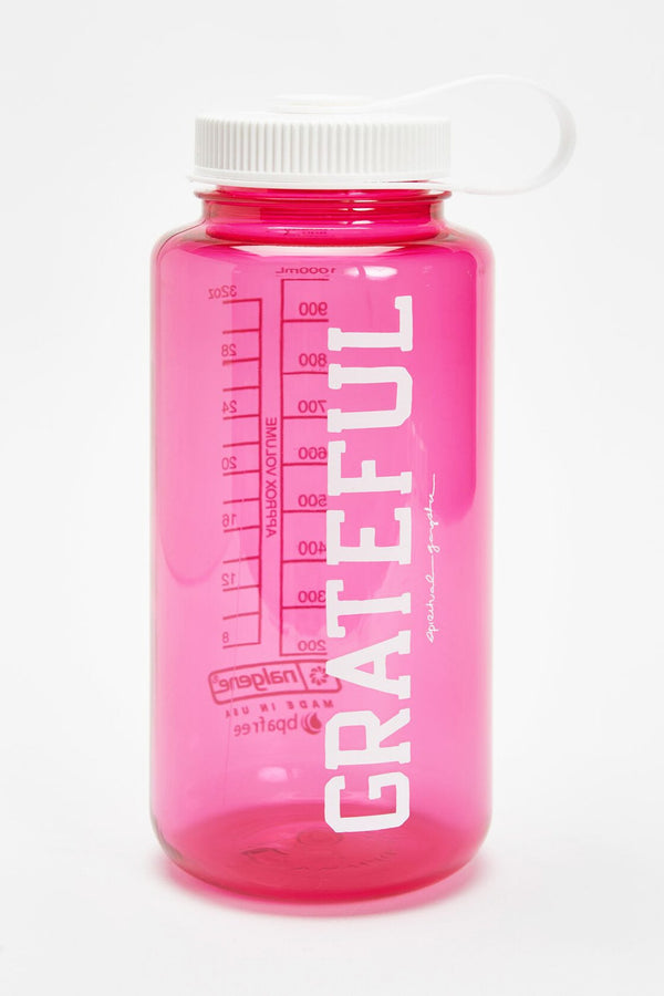 GRATEFUL NALGENE 32OZ WATER BOTTLE BRIGHT PINK