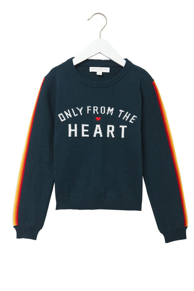 ONLY FROM THE HEART KIDS CLASSIC SWEATER SPRUCE - Spiritual Gangster