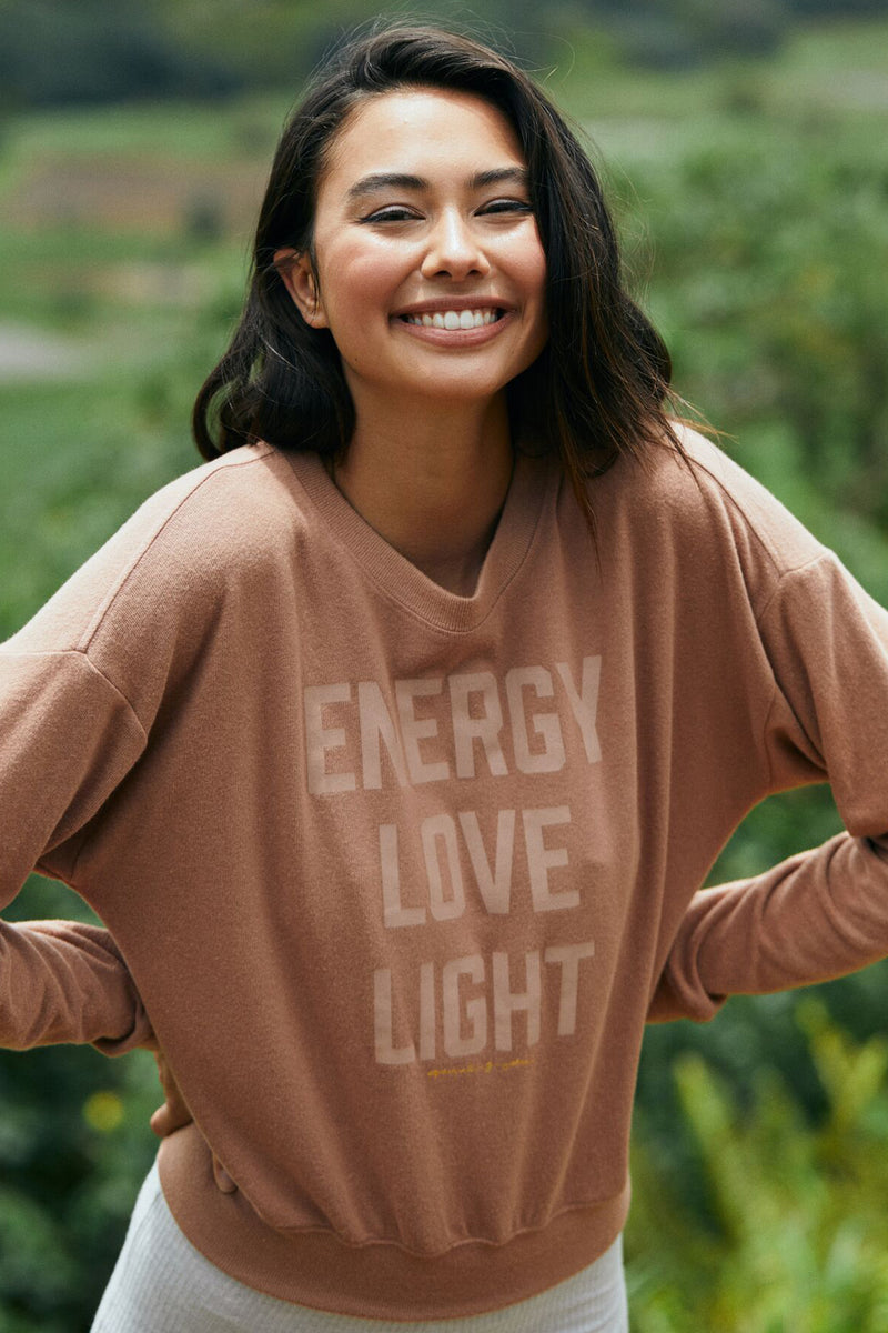 Energy Love Light Malibu Hacci Pullover