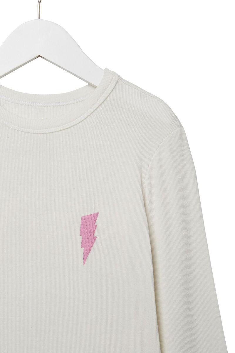 Girl Power Ribbed Ls Tee