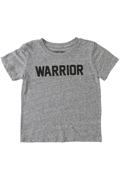 Warrior Kids Tee Heather Grey (2T - 8) - Spiritual Gangster