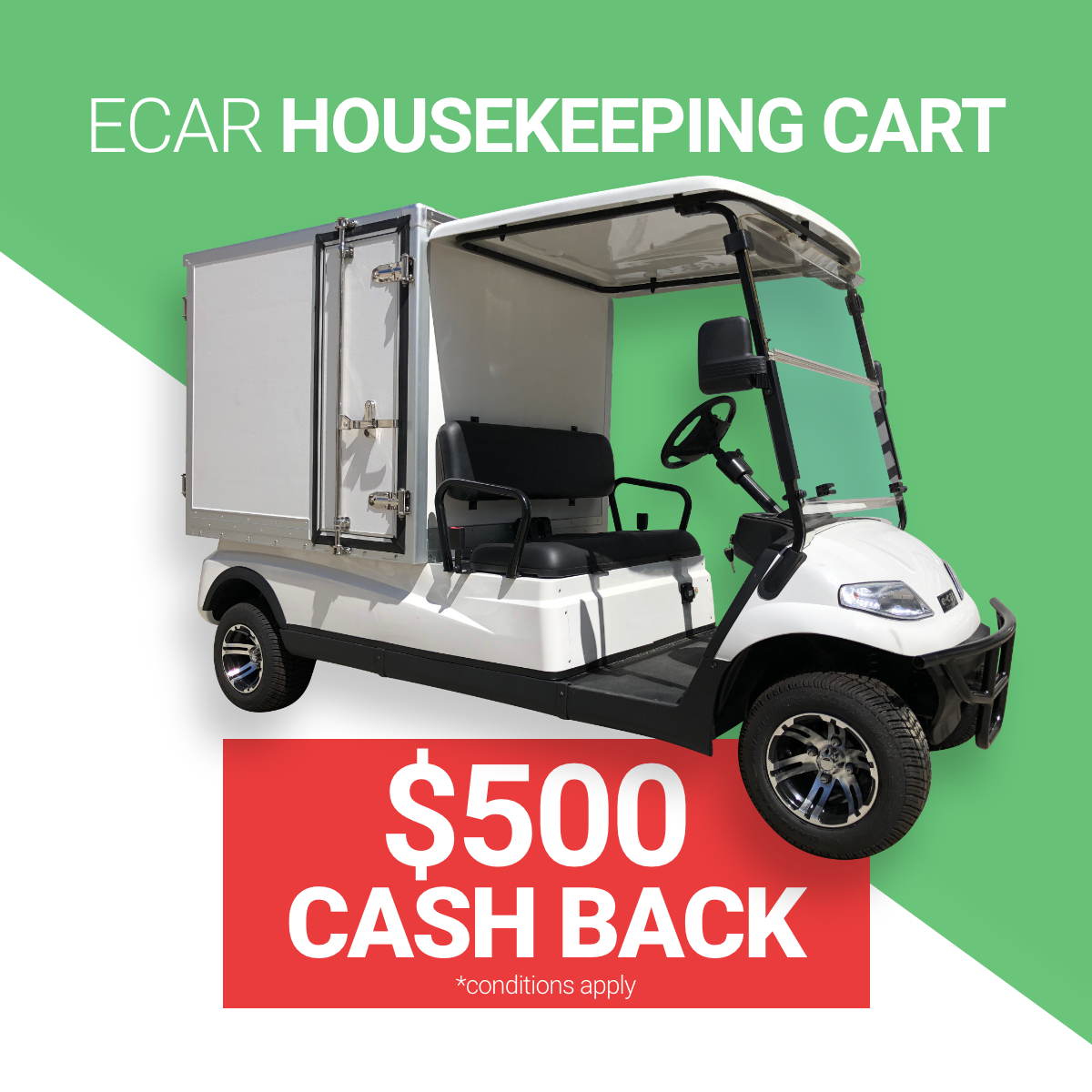 ECAR HOUSEKEEPING ELECTRIC CART SALE