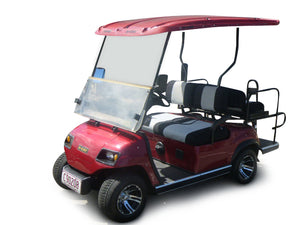 Red Front Photo ECAR LT-A2+2 4 Seat Electric Golfers Community Cart Buggy