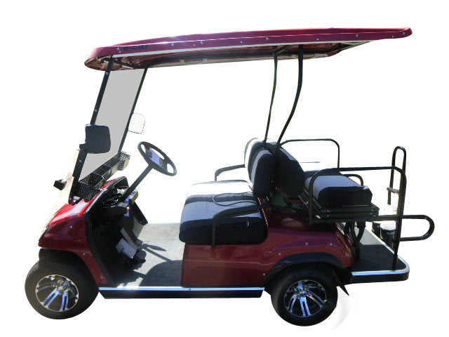 Red Side Photo ECAR LT-A2+2 4 Seat Electric Golfers Community Cart Buggy