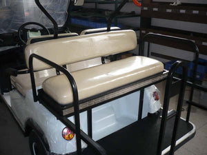 Rear 2 Way Seat White ECAR LT-A2+2 4 Seat Electric Golfers Community Cart Buggy