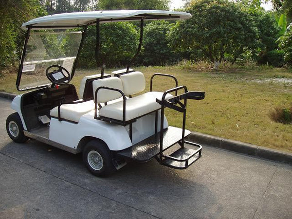 Rear Photos White ECAR LT-A2+2 4 Seat Electric Golfers Community Cart Buggy
