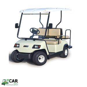 White ECAR LT-A2+2 4 Seat Electric Golfers Community Cart Buggy