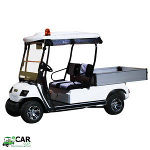 White ECAR LT-A2.AH2 - 2 Seat Utility Electric Cart Buggy Rear Tray Transport