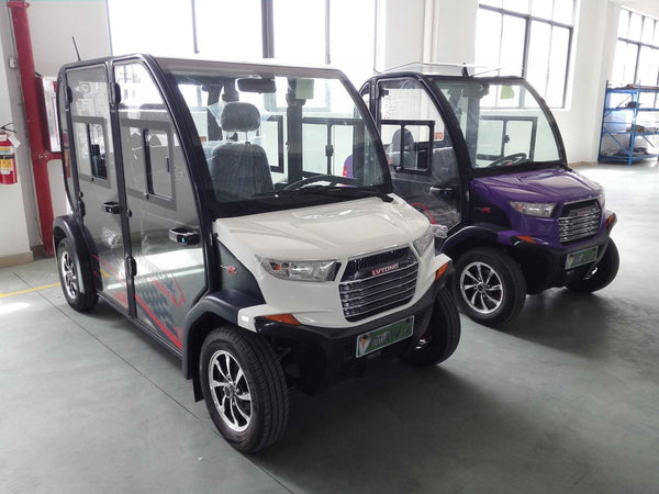 White ECAR 4 Seat LT-S4.DB Community Electric Cart