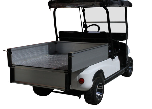 Rear Tray Photo White ECAR LT-A2.AH2 - 2 Seat Utility Electric Cart Buggy Rear Tray Transport