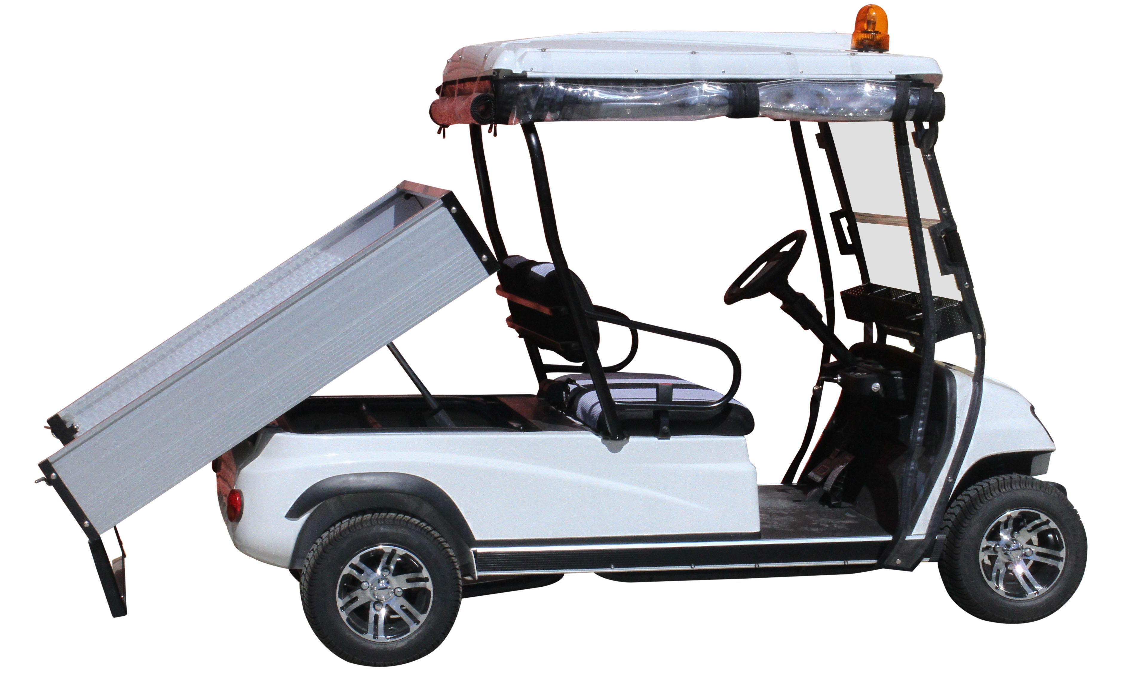 Tipper Tray White ECAR LT-A2.AH2 - 2 Seat Utility Electric Cart Buggy Rear Tray Transport