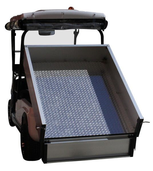 Rear Photo Tipper Tray White ECAR LT-A2.AH2 - 2 Seat Utility Electric Cart Buggy Rear Tray Transport