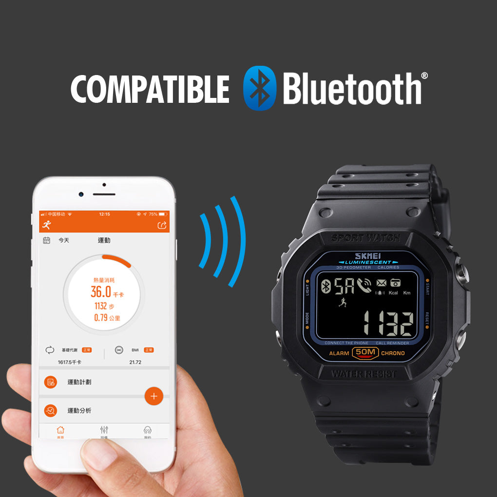 SKMEI Bluetooth Sport Digital Wristwatches 1629
