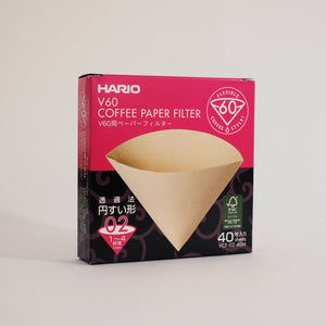 Hario V60-02 Brown Filter (40 pack)