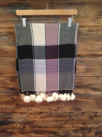 Yogurt Checked Scarf