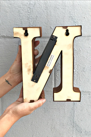Rusted Marquee Letters