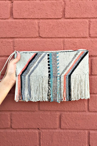 Embellished Boho Clutch