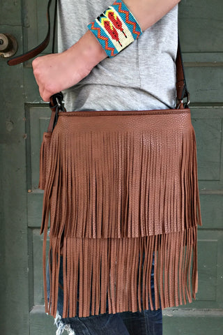 All Over Fringe Crossbody