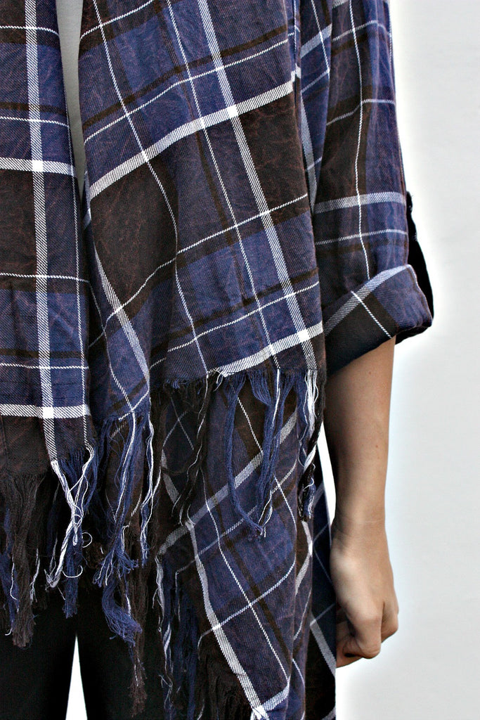 Cross Town Plaid Cardi